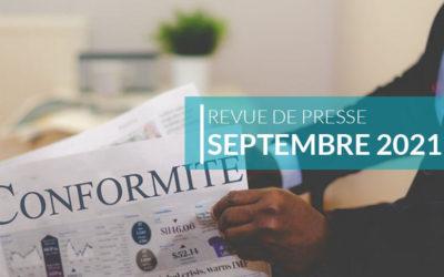 Revue de presse – septembre 2021